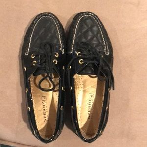Patent leather sperry top siders